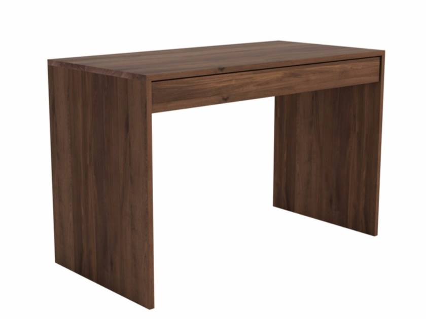 Rectangular walnut console table with drawers WALNUT WAVE   Console table by Ethnicraft