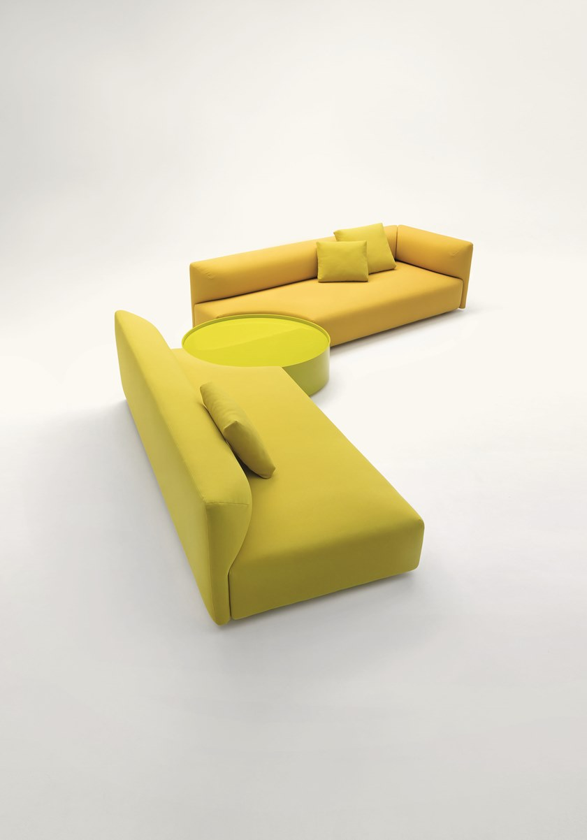 Modular Fabric Sofa With Removable Cover Walt By Paola