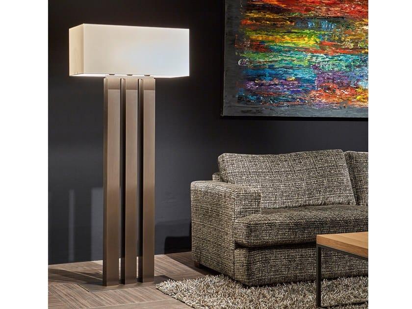 Direct-indirect light metal floor lamp WALTZ OF VIENNA F3 by ILFARI