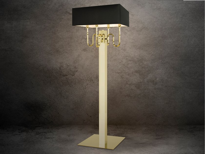 Direct-indirect light metal floor lamp WALTZ OF VIENNA F4 by ILFARI