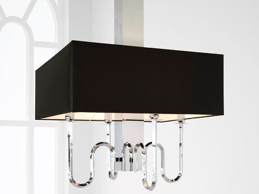 Direct-indirect light metal pendant lamp WALTZ OF VIENNA H4+1 by ILFARI