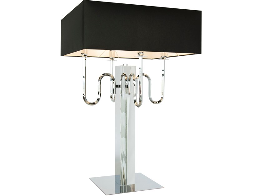 Contemporary style direct-indirect light metal table lamp with fixed arm WALTZ OF VIENNA T4 by ILFARI