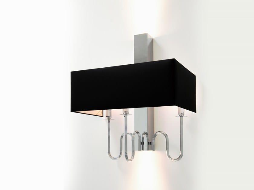 Direct-indirect light metal wall lamp WALTZ OF VIENNA W3+2 by ILFARI