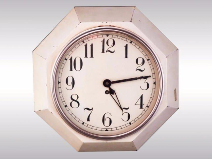 Wall-mounted metal clock WANDUHR-WALL CLOCK by Woka Lamps Vienna