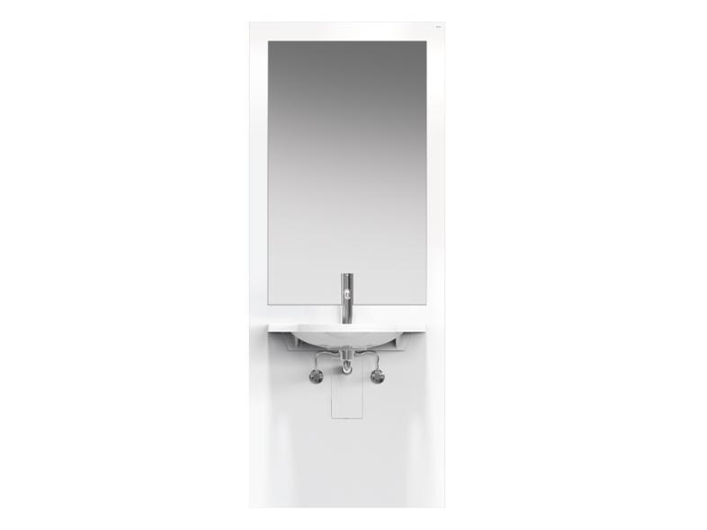 Height-adjustable Plexiglas® washbasin for disabled with electric motion S 50 | Height-adjustable washbasin for disabled by HEWI