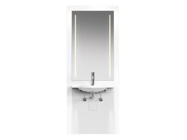 Height-adjustable Plexiglas® washbasin for disabled with electric motion S 50 | Washbasin for disabled with electric motion by HEWI