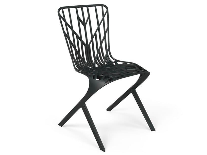 Cantilever aluminium chair WASHINGTON SKELETON™ by KNOLL
