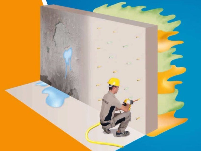 Chemical barrier anti-humidity system WATER BARRIER by URETEK ITALIA