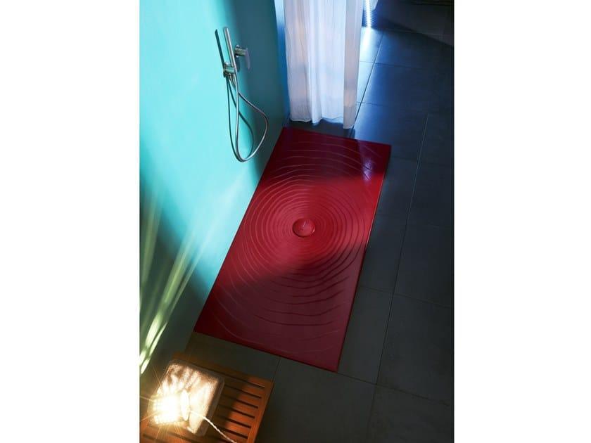 Piatti Doccia Ceramica Flaminia.Piatto Doccia Rettangolare In Materiali Ceramici Water Drop 70 X 160