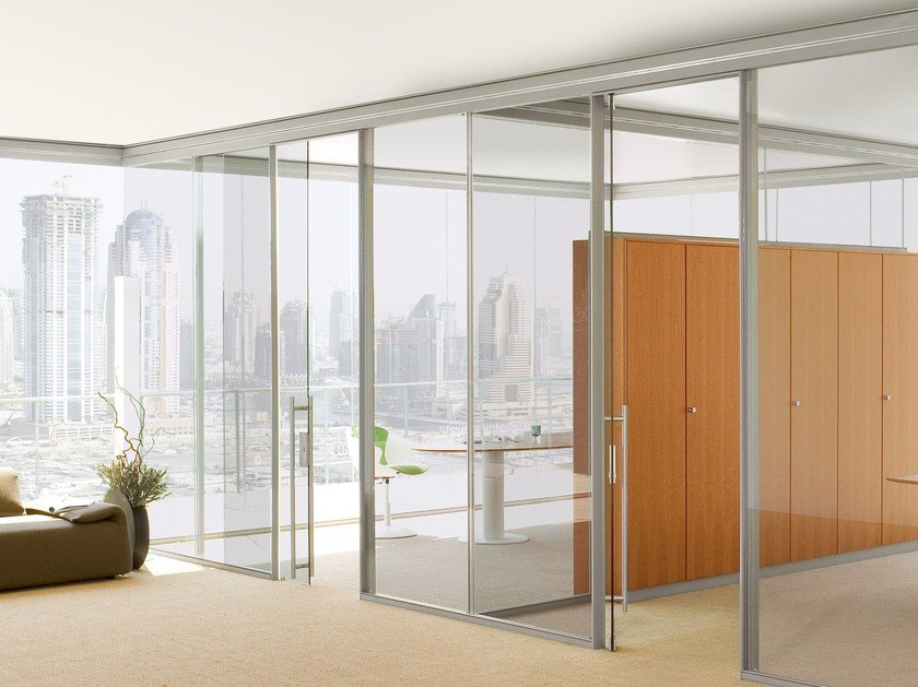 Glass office partition WATS by Archiutti