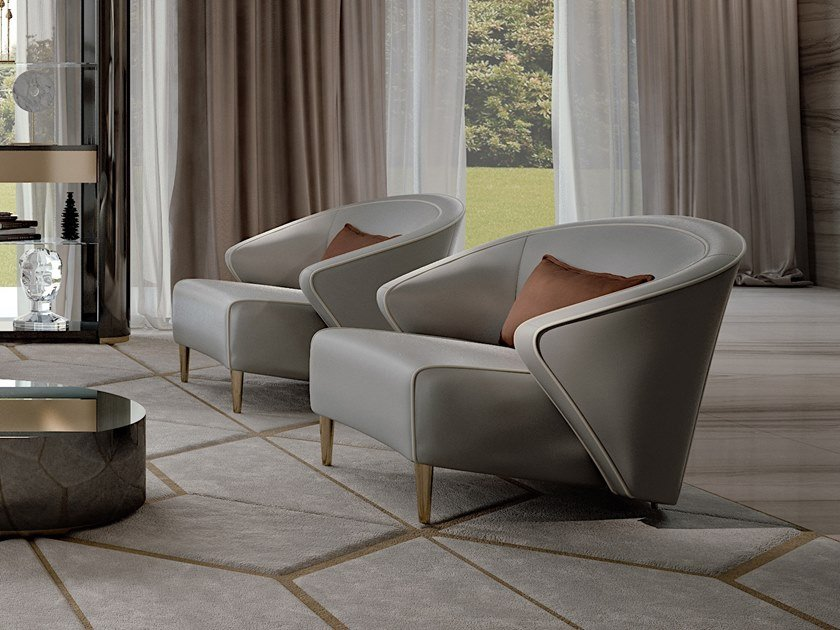 Armchair with armrests WAVE | Armchair by Bizzotto