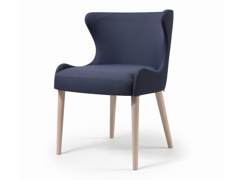 Cadeira estofada de tecido WAVE CB by Fenabel