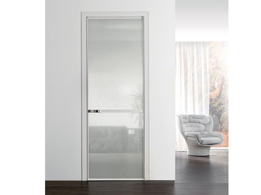Fabric glass hinged door WAVE | Glass door by Longhi