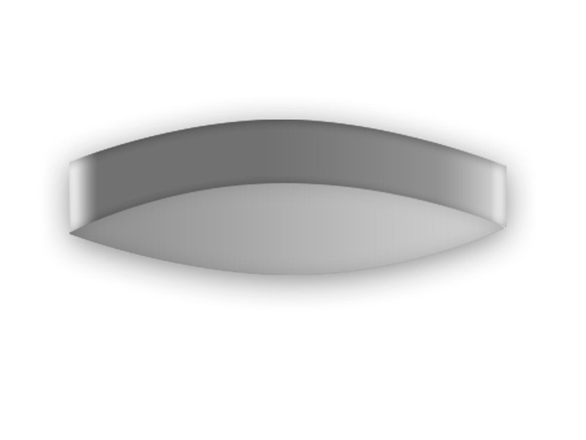 LED indirect light aluminium wall light WAVE by Grok