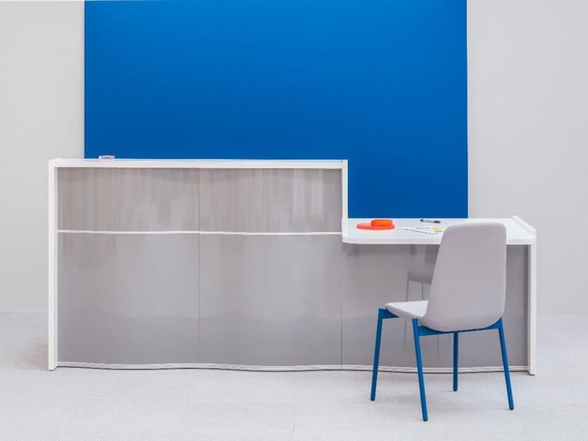 Modular Office reception desk WAVE | HPL Reception desk by MDD
