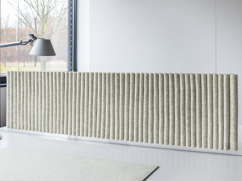 Felt hanging acoustical panels WAVE | Hanging acoustic panel by HEY-SIGN