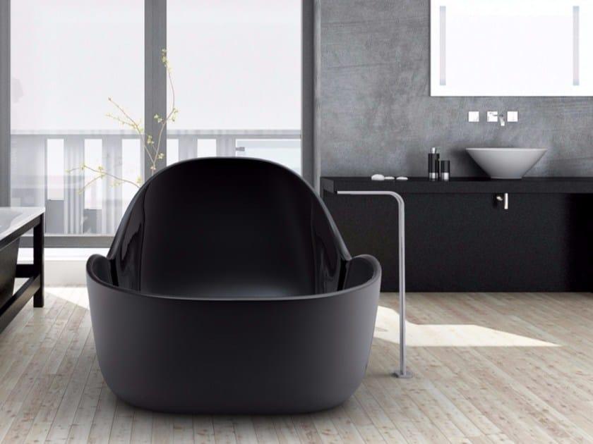 Vasca da bagno centro stanza in adamantx wave by zad - Come lucidare una vasca da bagno opaca ...