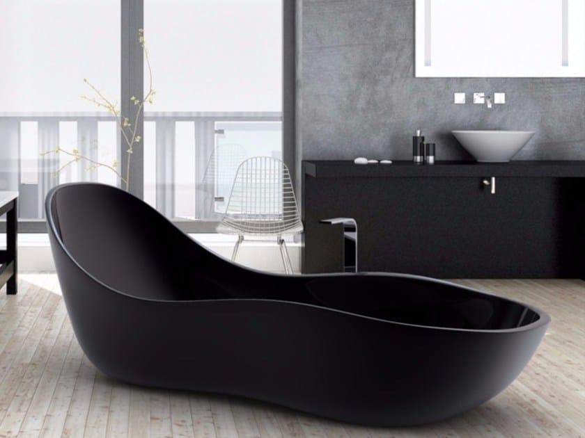Vasca da bagno centro stanza in adamantx wave by zad italy design sabino ferrante - Come lucidare una vasca da bagno opaca ...