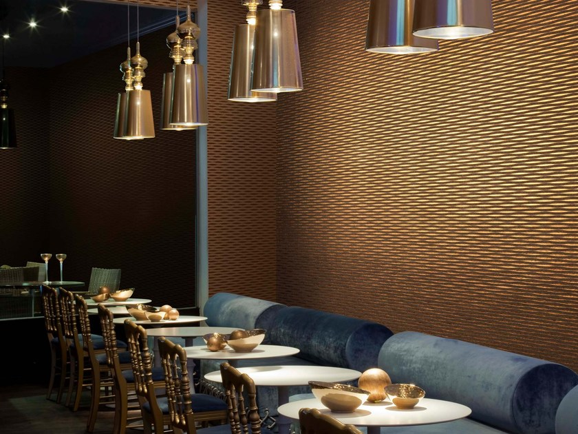 Nonwoven wallpaper WAVES by Omexco