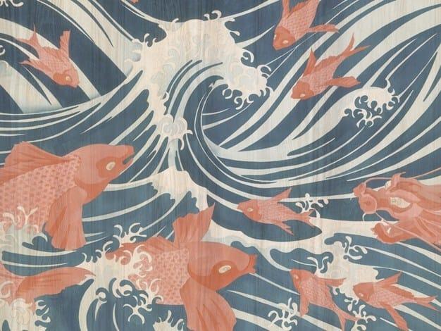 Wallpaper WAVES by Tecnografica Italian Wallcoverings
