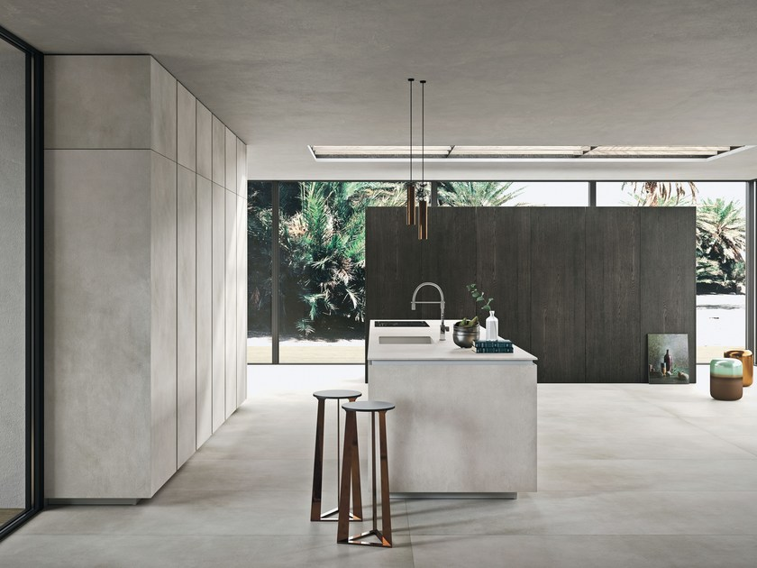 Laminam kitchen with island WAY MATERIA By Snaidero