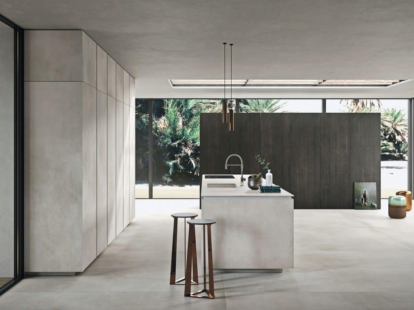 Cucina componibile con ante rivestite in Laminam WAY MATERIA By ...