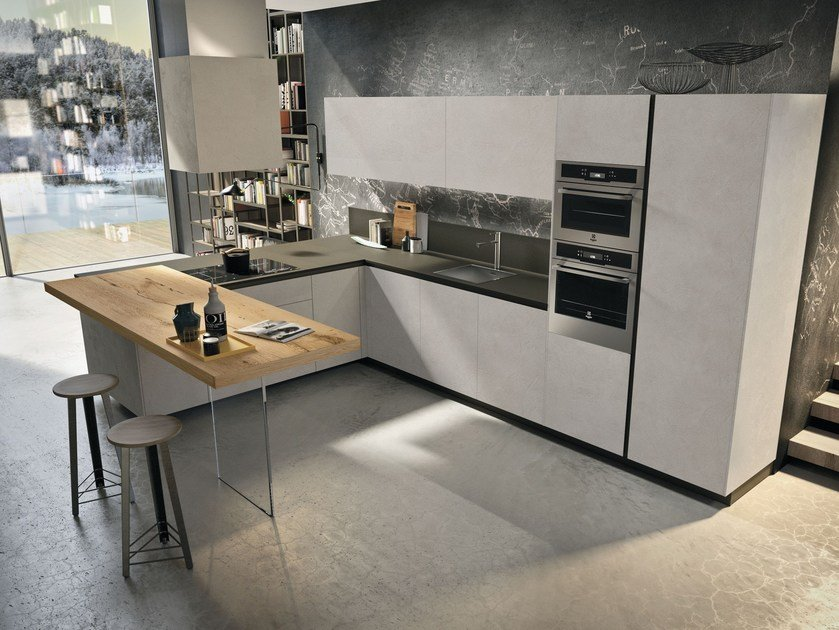 WAY | Kitchen with peninsula By Snaidero