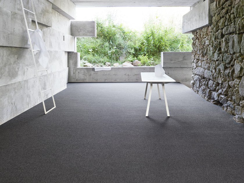 Solid-color carpeting WEAVE 700 by OBJECT CARPET