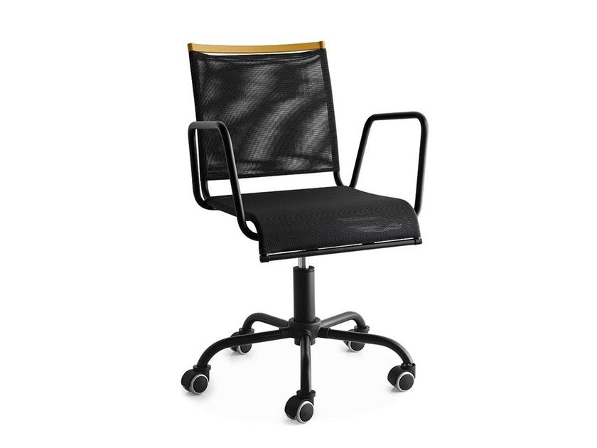 Task chair with 5-Spoke base with casters WEB RACE by Calligaris