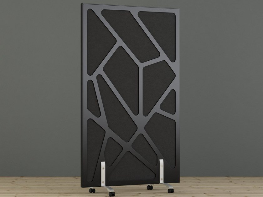 Sound absorbing free standing workstation screen WEBB by Glimakra of Sweden