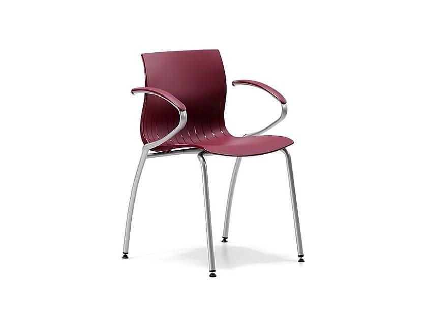 Sedia impilabile in plastica con braccioli WEBBY 339 by TALIN