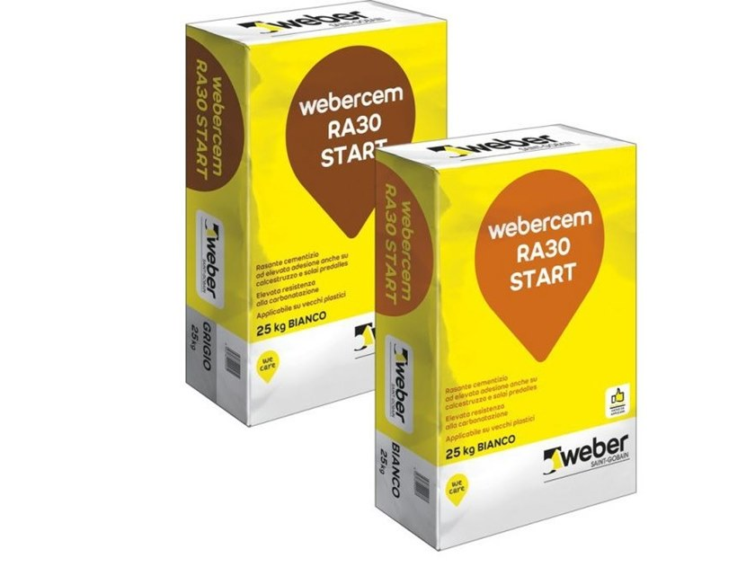 Rasante cementizio ad elevata adesione WEBERCEM RA30 START by Saint-Gobain Weber