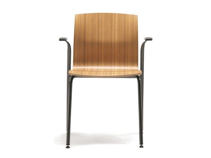 Sedia in multistrato con braccioli WEBWOOD 358 by TALIN