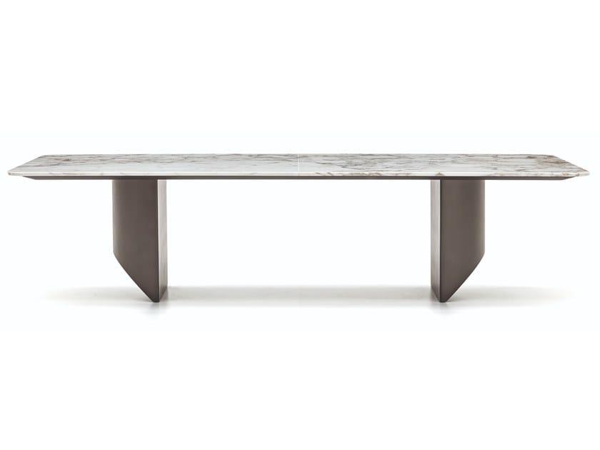 Rechteckiger Wohntisch aus Marmor WEDGE | Tisch aus Marmor by Minotti