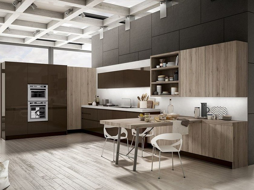 Fitted kitchen with integrated handles WEGA by ARREDO 3