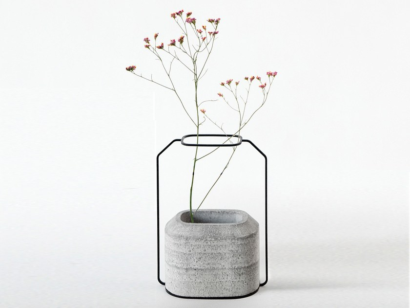 Cement vase WEIGHT VASE B by Specimen Editions