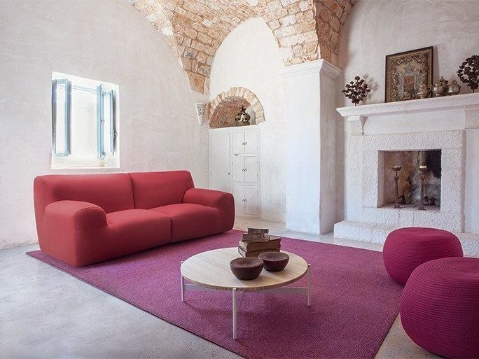 2 seater fabric sofa with removable cover WELCOME | 2 seater sofa by paola lenti