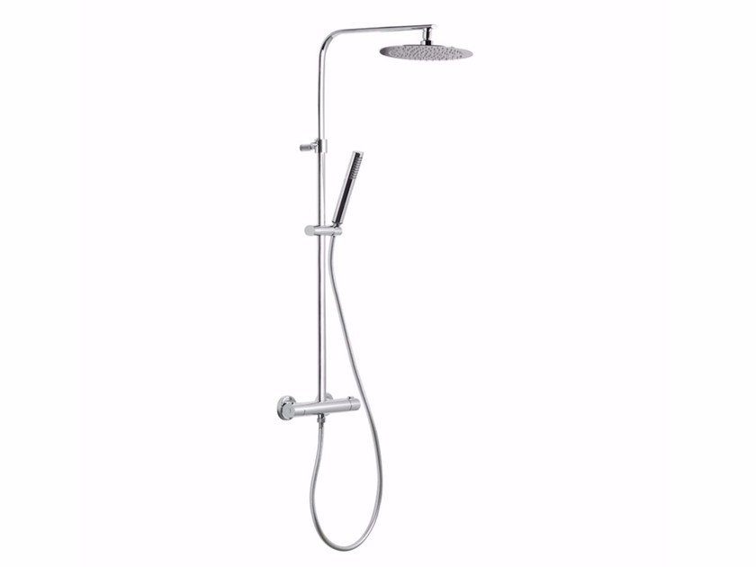 Thermostatic shower panel with diverter with hand shower WELLNESS | Thermostatic shower panel by newform