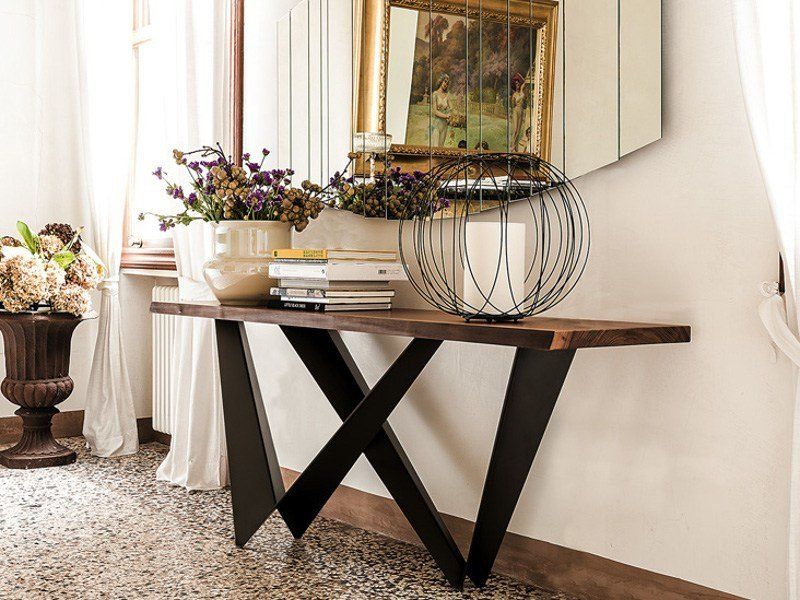Rectangular wooden console table WESTIN by Cattelan Italia