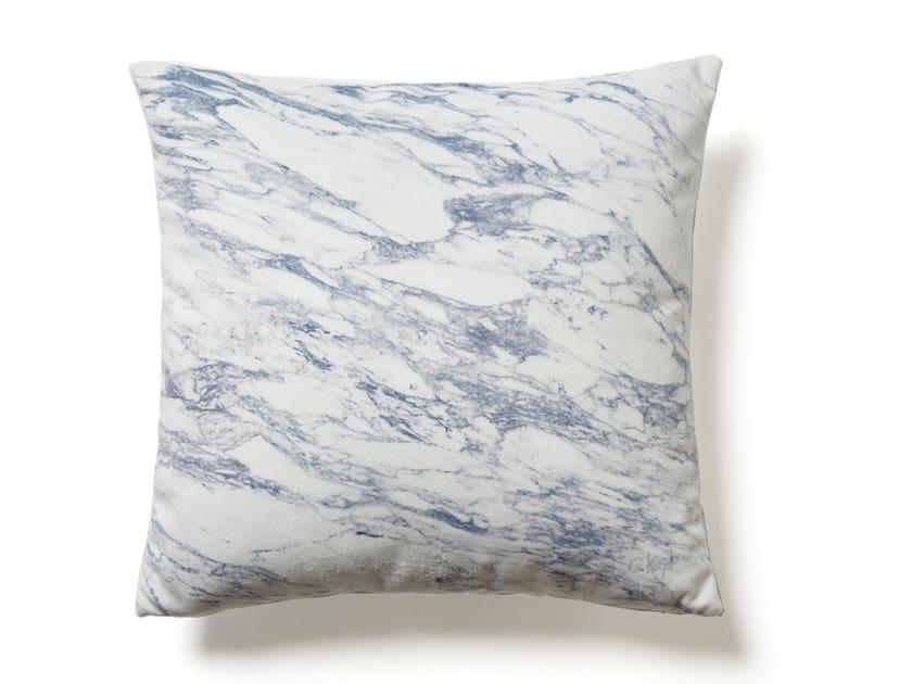 Square cushion WHITE ARABESCATO MARBLE by Koziel