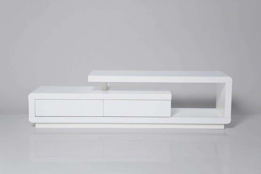 design White Con Laccato Libreria Kare Tv ClubMobile EIDHW92