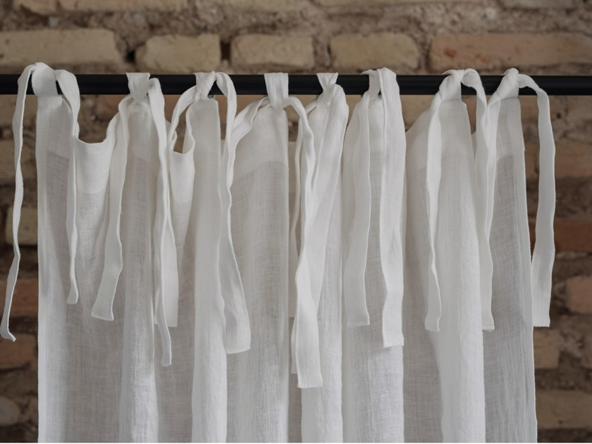 Linen curtain WHITE   Curtain by Linen Tales