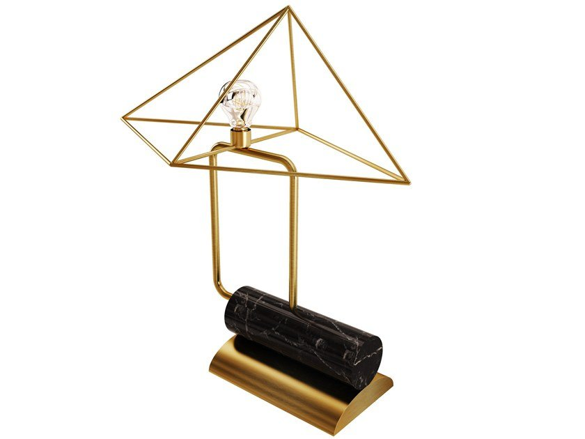 Brass table lamp with fixed arm WHITE HOUSE | Table lamp by Porustudio