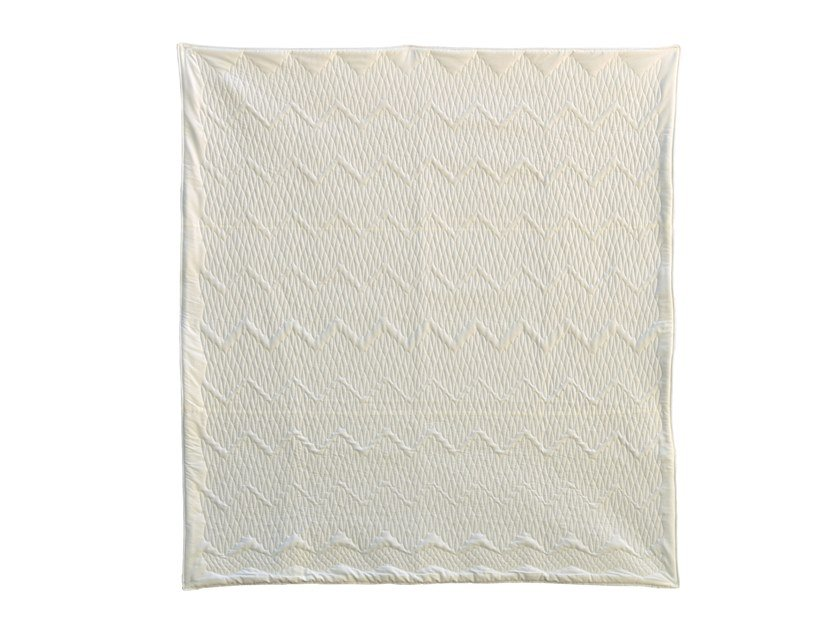Solid-color cotton quilt WHITE QUILT 001 by KHEM Studios