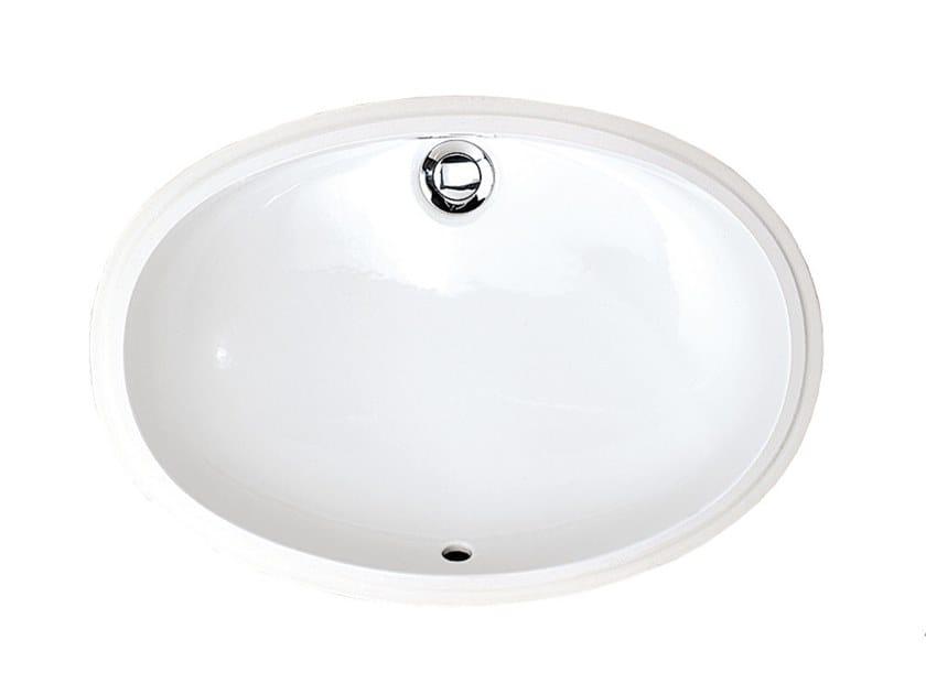 Undermount oval washbasin WHITE   Undermount washbasin by Devon&Devon