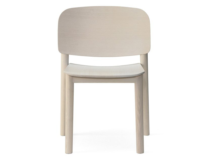 Lacquered open back ash chair WHITE | Ash chair by BILLIANI