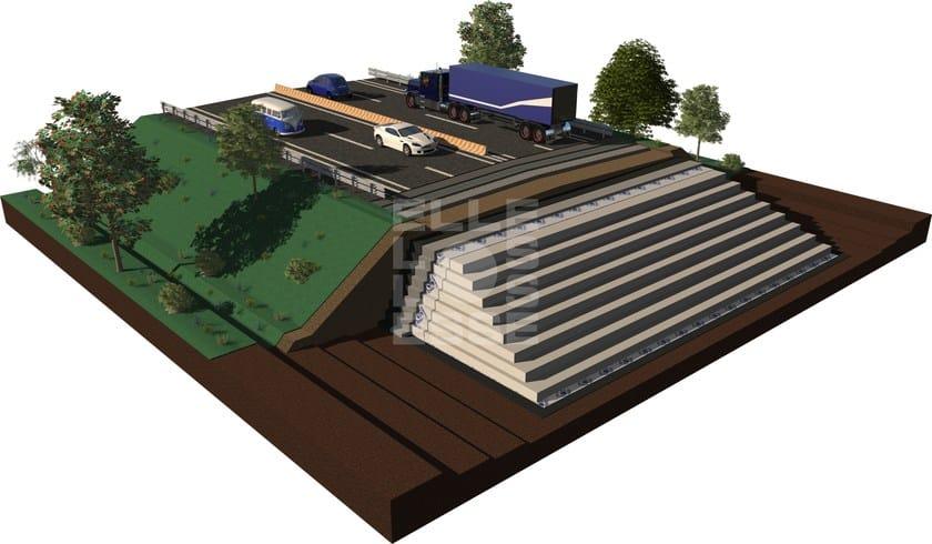 EPS's block for construction of road embankments WHITEPOR® GEOFOAM by ELLE ESSE
