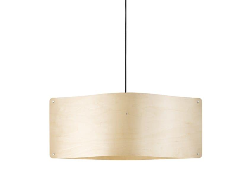 In Pendant Large Lampada Sospensione Wide Impiallacciato Led Finom Legno A Lights VUpSMqz