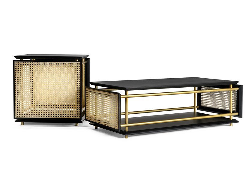 Rectangular coffee table with storage space WIENER BOX by Wiener GTV Design