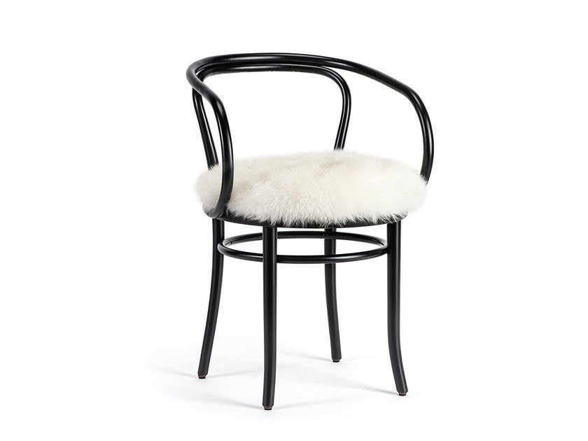 Upholstered beech chair WIENER STUHL - CHRISTMAS EDITION | Open back chair by Wiener GTV Design
